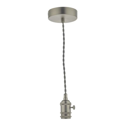 Accessory 1 Light Suspension Antique Chrome With Grey Cable, SPB0161